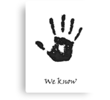 "Skyrim: Dark-brotherhood ""we know"" T-shirt Canvas Print"