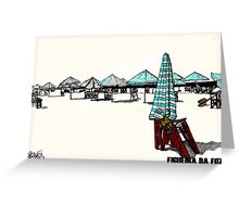 Figueira da Foz - Beach Umbrellas  Greeting Card
