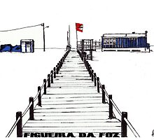 Figueira da Foz - Blue Beach Bar by Paul  Nelson-Esch