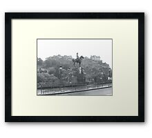 Statue and Castle, Edinburgh Framed Print