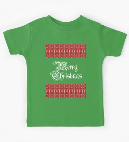Merry Knitted Christmas ! Kids Tee