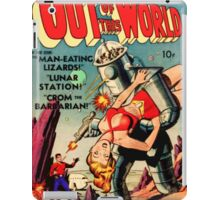 "RETRO sci-fi comic ""That Robot Is Stealing My Girl!"" iPad Case/Skin"