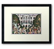 Us presidents at the white house Framed Print