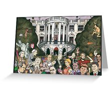 Us presidents at the white house Greeting Card