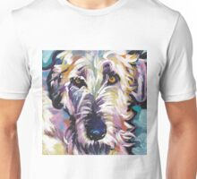 Irish Wolfhound Dog Bright colorful pop dog art Unisex T-Shirt