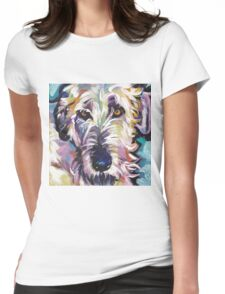 Irish Wolfhound Dog Bright colorful pop dog art Womens Fitted T-Shirt