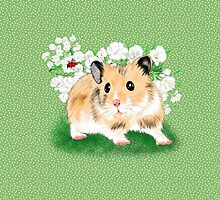 Cute Golden Syrian Hamster by LeahG by Cartoonistlg