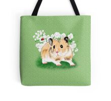 Cute Golden Syrian Hamster by LeahG Tote Bag