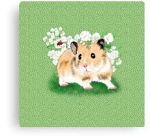 Cute Golden Syrian Hamster by LeahG Canvas Print