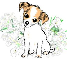 Cute Chihuahua Puppy Art by LeahG by Cartoonistlg