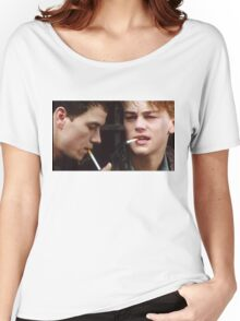 Leonardo Dicaprio and Marky Mark Wahlberg Women's Relaxed Fit T-Shirt
