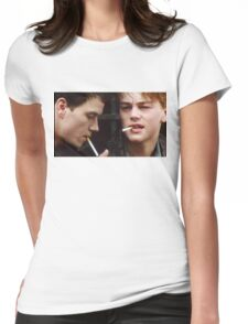 Leonardo Dicaprio and Marky Mark Wahlberg Womens Fitted T-Shirt