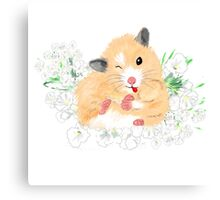 Cute Syrian Hamster Honey Canvas Print