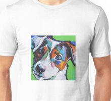 Jack Russell Terrier Dog Bright colorful pop dog art Unisex T-Shirt