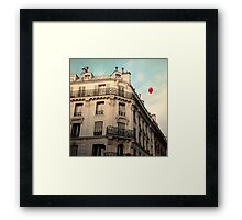 Balloon Rouge Framed Print