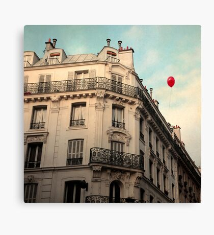 Balloon Rouge Canvas Print