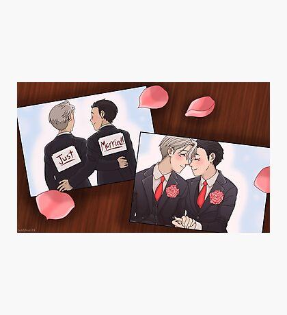 Viktor x Yuuri Wedding Photographic Print