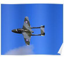 Vampire taken @ classic air force museum Cornwall Poster