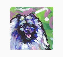 Keeshond Dog Bright colorful pop dog art Unisex T-Shirt