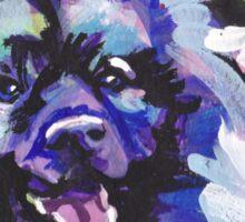 Keeshond Dog Bright colorful pop dog art Sticker