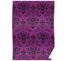 Haunted Mansion Pink Wallpaper Poster