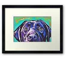 Labrador Retriever Dog Bright colorful pop dog art Framed Print