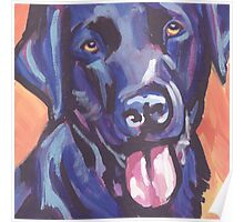 Labrador Retriever Dog Bright colorful pop dog art Poster