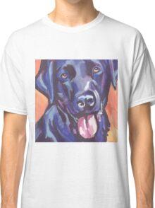 Labrador Retriever Dog Bright colorful pop dog art Classic T-Shirt