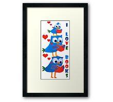 reading owls Framed Print