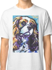 cavalier king charles spaniel Dog Bright colorful pop dog art Classic T-Shirt