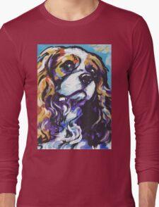 cavalier king charles spaniel Dog Bright colorful pop dog art Long Sleeve T-Shirt