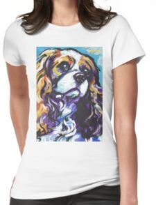cavalier king charles spaniel Dog Bright colorful pop dog art Womens Fitted T-Shirt