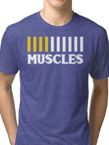 Downloading Muscles - New Years Resolution Workout Tri-blend T-Shirt