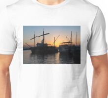 Just a Sliver of the Sun - Antique Tourist Boats in Syracuse Sicily Unisex T-Shirt