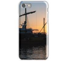 Just a Sliver of the Sun - Antique Tourist Boats in Syracuse Sicily iPhone Case/Skin