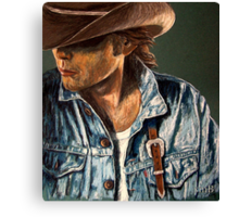Just Another Cowboy Canvas Print