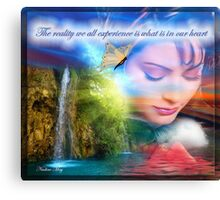 The reality we all experience Canvas Print