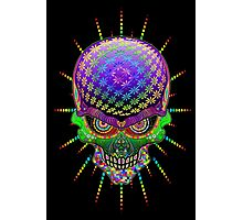Crazy Skull Psychedelic Explosion Photographic Print