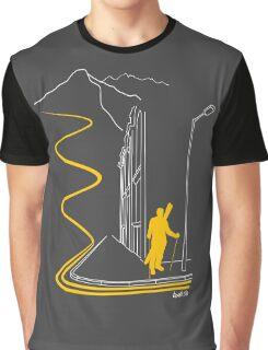 Bankski – Yellow Lines Skier Graphic T-Shirt