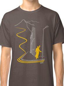 Bankski – Yellow Lines Skier Classic T-Shirt