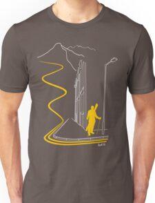 Bankski – Yellow Lines Skier T-Shirt
