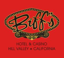 Biff's Hotel and Casino - Back to the Future (Black and Yellow) Kids Clothes