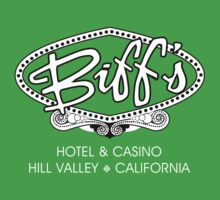 Biff's Hotel and Casino - Back to the Future (White and Black) Kids Clothes