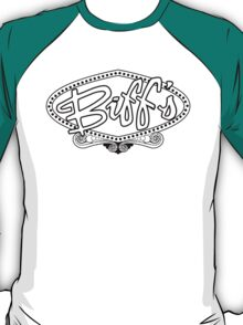Biff's Hotel and Casino - Back to the Future (White and Black) T-Shirt