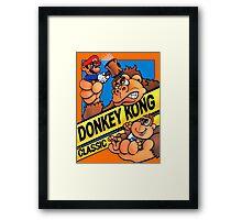 donkey kong classic game Framed Print