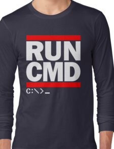 RUN CMD C:\>_ Long Sleeve T-Shirt