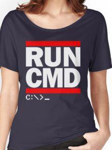 RUN CMD C:\>_ Women's Relaxed Fit T-Shirt