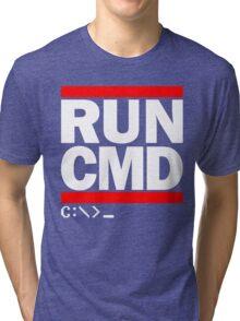 RUN CMD C:\>_ Tri-blend T-Shirt
