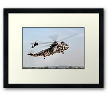 Sea King and Apache Helicopters Framed Print