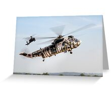 Sea King and Apache Helicopters Greeting Card